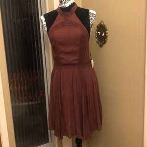 Free People  Brown Small Dress